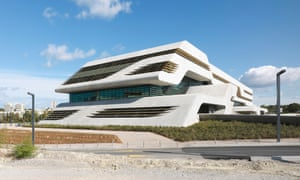 Pierres Vives building designed by Zaha Hadid in Montpellier, France.