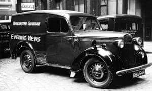 Manchester Guardian and Evening News delivery van in 1950.