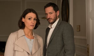 Suranne Jones as Gemma and Bertie Carvel as Simon in episode three of Doctor Foster.