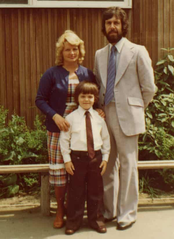 'Dad was an amazing draughtsman. People went crazy for his designs': ayoung Nick with his parents. They turned their garden shed into afurniture workshop.