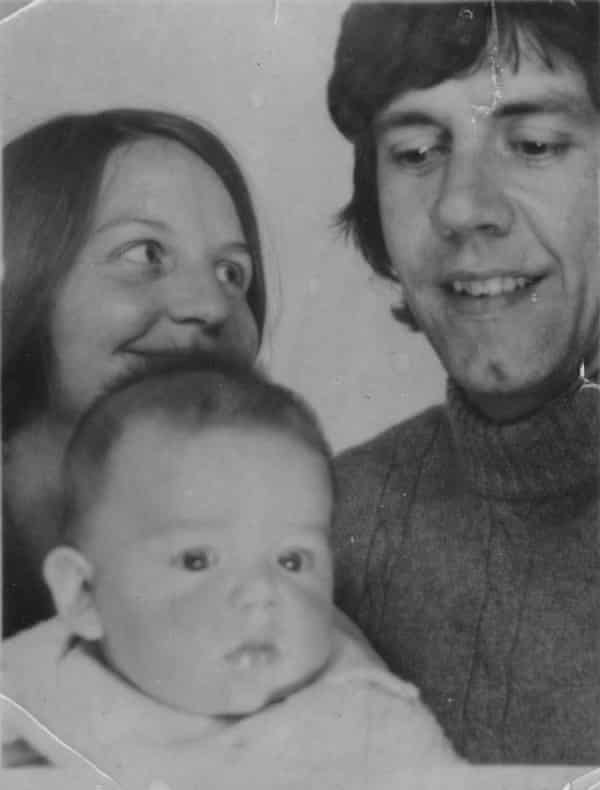 Nick Frost as a baby in an early family passport photo.