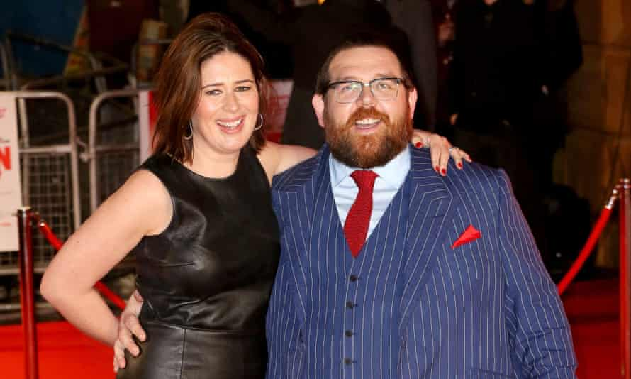 Nick Frost with his wife Christina.