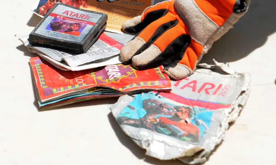 A copy of Atari's terrible E.T. video game, recently recovered from the Alamogordo landfill in New Mexico, where thousands of unsold copies were dumped in the 1980s