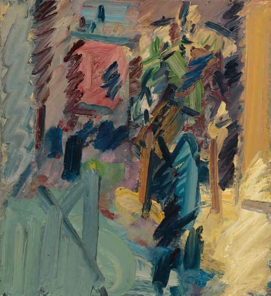 William Feaver Seated, 2011, by Frank Auerbach.