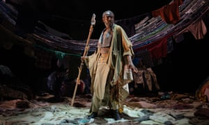 Tyrone Huggins as Prospero in The Tempest at Northern Stage.