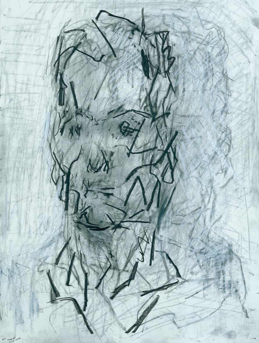 Head of Jake, 2009-10, by Frank Auerbach.