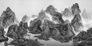 Photography of a Chinese landscape by Yang Yongliang