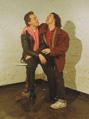 steve coogan with frank skinner at the edinburgh festival, 1990