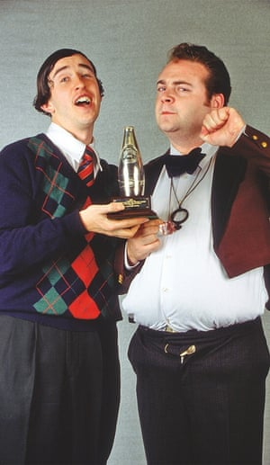 steve coogan with john thomson, 1992