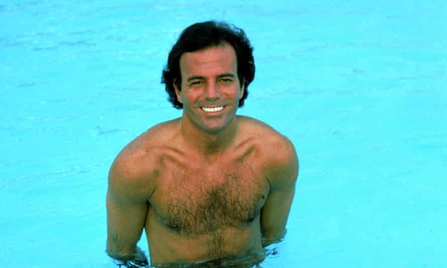 Julio Iglesias in a swimming pool, circa 1984.