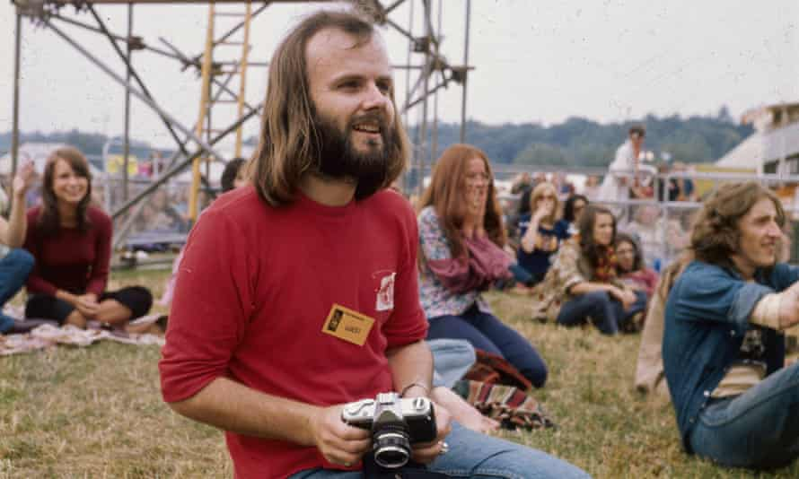 John Peel at Reading festival, c1971