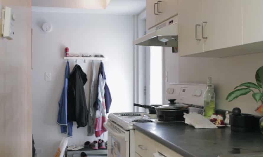 Cramped ... Tanjil Mahmud Raju and Shamima Khan Sharna's small apartment is stacked over three floors.