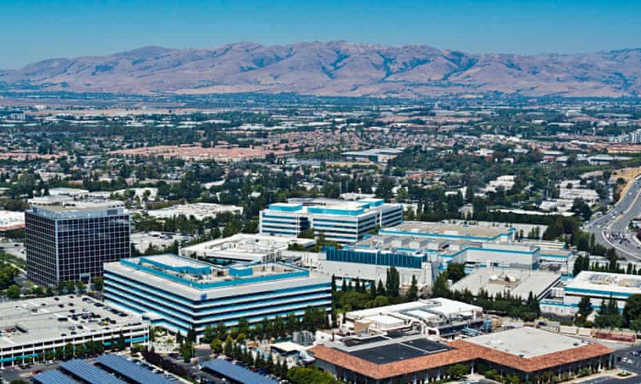 General view of the Santa Clara valley in California