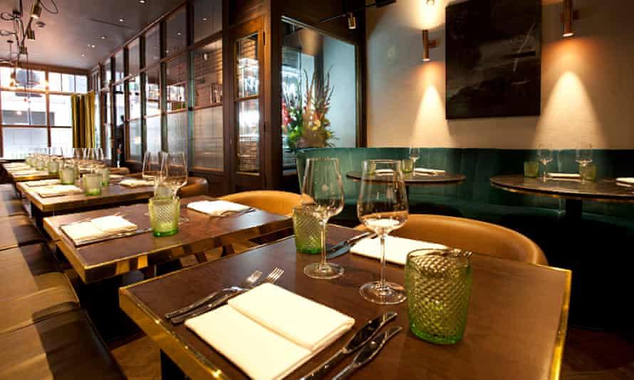 Sackville's, Sackville Street, Piccadilly, London, for Jay Rayner's restaurant review,