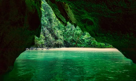 The 'emerald cave' on Koh Mook.