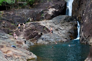 Klong Phlu Waterfall on Ko Chang.