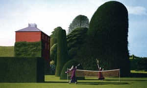 The Badminton Game (1972), by David Inshaw