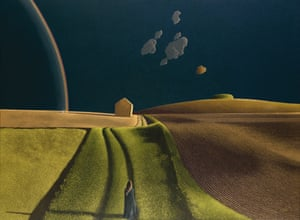 She Did Not Turn (1974) by David Inshaw
