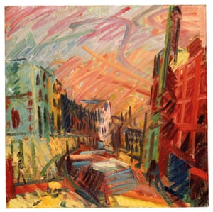 Auerbach's take on Mornington Crescent, one of the north London streets he frequently – and painstakingly – paints.