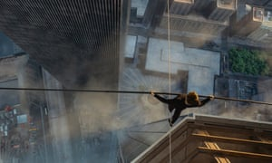 Joseph Gordon-Levitt as Philippe Petit in The Walk.