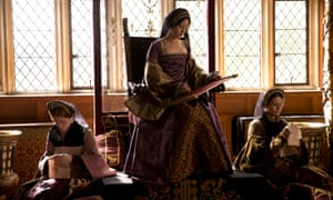 Claire Foy as Anne Boleyn (centre) in the BBC's adaptation of Wolf Hall.