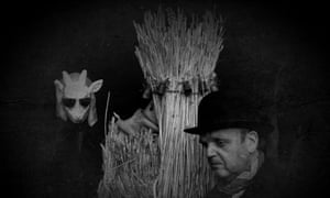 Engaging, odd and rather disturbing ... Toby Jones and Andrew Kötting as 'Straw Bear' in By Our Selves.