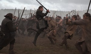 Where's Mel? Michael Fassbender gets to work in Macbeth.