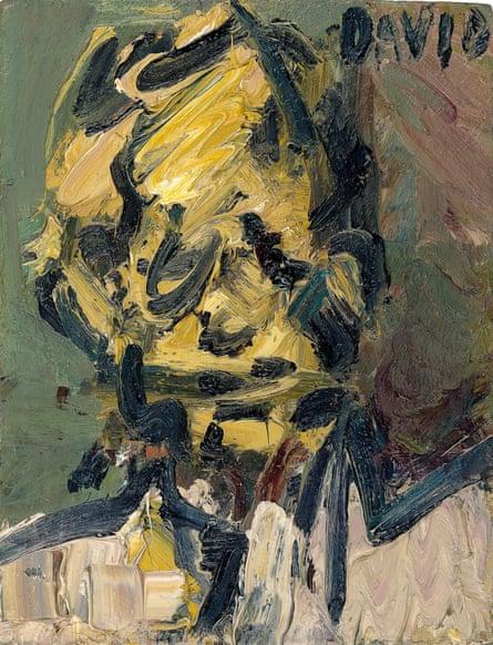 Head of David Landau, 1990, by Frank Auerbach.