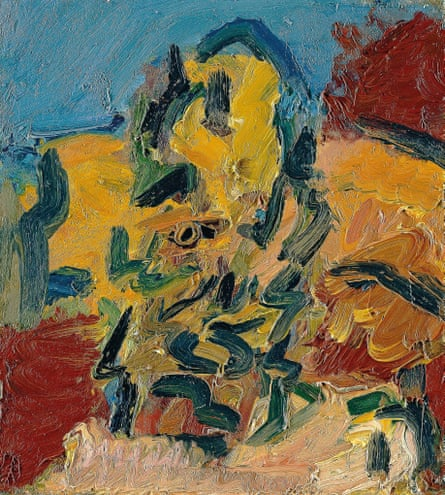 Head of Catherine Lampert, 2004, by Frank Auerbach.