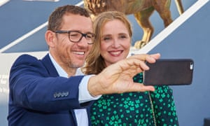 Dany Boon and Julie Delpy at the Venice film festival.