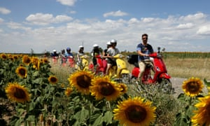 Jonathan Thompson on a Vespa group holiday in central Spain.