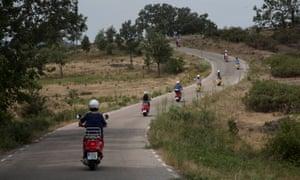 Vespa group holiday in the Segovia region of Spain