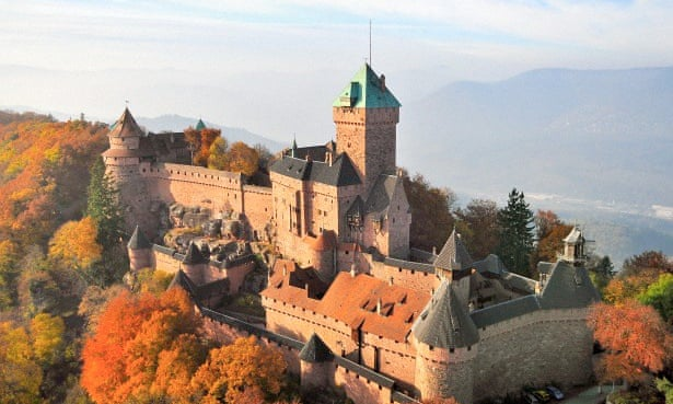 The medieval Haut-Koenigsbourg, an imposing hilltop chateau.