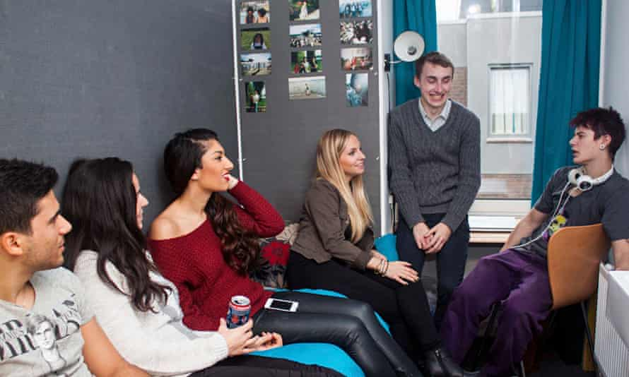 Students in a room at a Cass and Claredale hall of residence