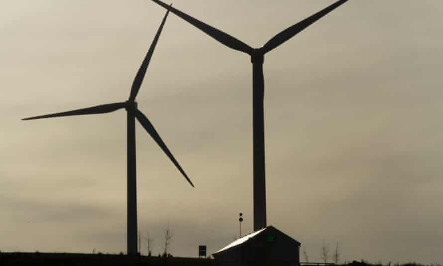 People would rather live near a wind turbine, like these on Oswaldtwistle Moor in Lancashire, rather than a fracking well, according to polling.