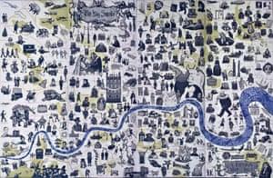 Map of London by Mychael Barratt