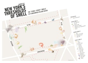 A map of New York's smells by Kate McLean