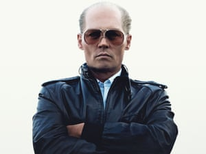 """Johnny Depp in make-up as mobster James """"Whitey"""" Bulger"""