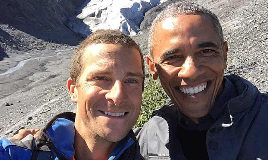 Bear Grylls' selfie with President Obama.