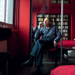 'It's not my role to be responsible' … Houellebecq in his Paris flat.