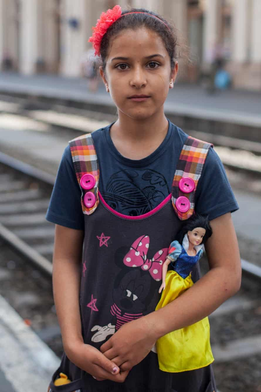Hadisseh Hosseini, 11, who wants to be a doctor.
