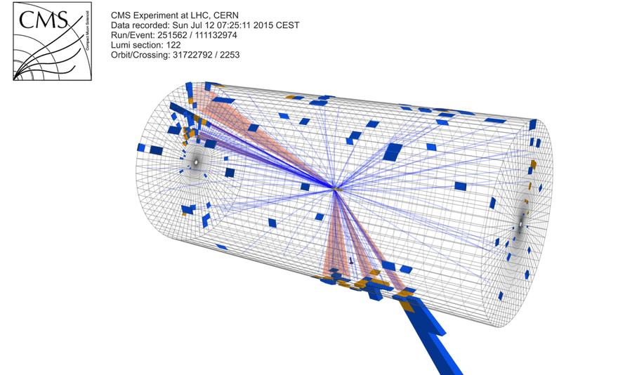A pair of highly-boosted top quark candidates measured in CMS