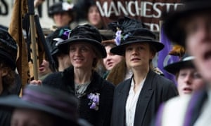 Anne Marie-Duff and Carey Mulligan in Suffragette.