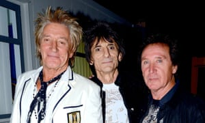 Rod Stewart, Ronnie Wood and Kenney Jones at the 'Rock 'N' Horsepower' event