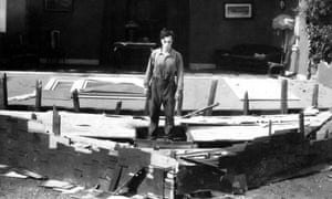 Buster Keaton and the collapsing house in Steamboat Bill Jr