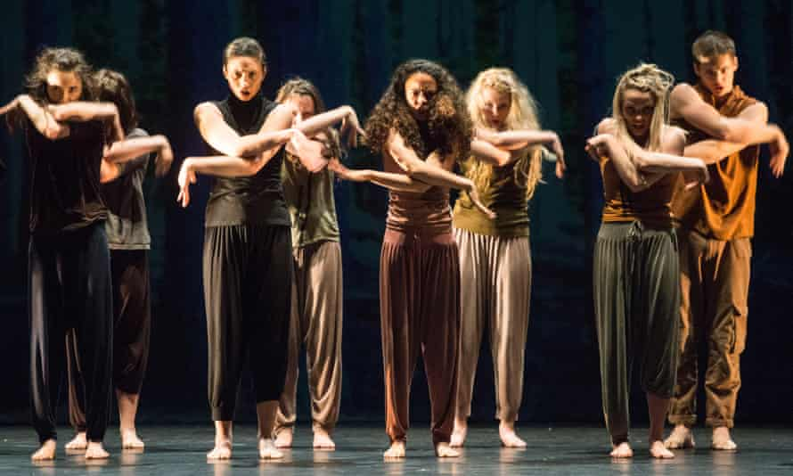 National Youth Dance Company dancers perform (in between) by Jasmin Vardimon