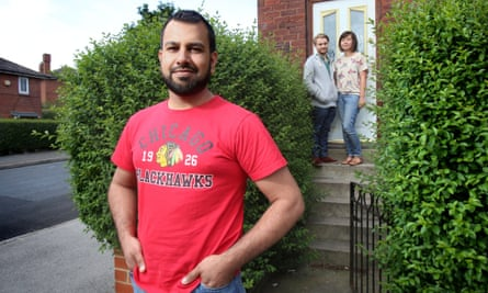 Muhammad from Pakistan outside the home of Jack Palmer and Yoshiko Stokoe in Leeds