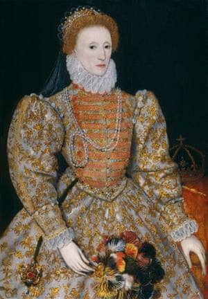 Queen Elizabeth I by Unknown continental artist, circa 1575.
