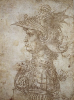 Leonardo da Vinci, Bust of a warrior, c. 1475
