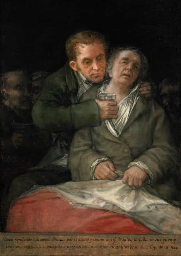 Self Portrait with Doctor Arrieta, 1820, by Francisco Goya